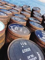 Islay Whisky Festival - Casks at Lagavulin