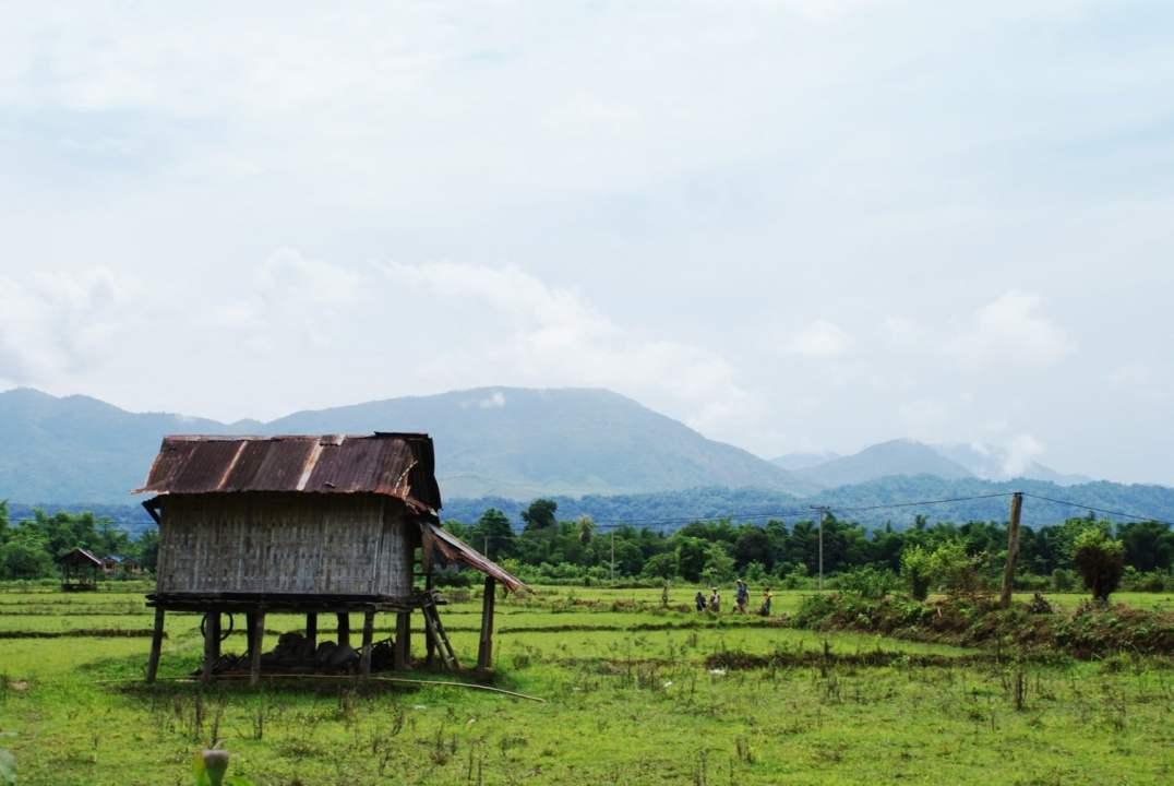 Hut on Stilts in Laos