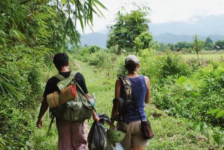 Bring rock climbing equipment for rock climb in Vang Vieng