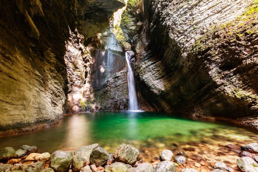Beautiful Kozjak waterfall,Slovenia - one of the reasons to go hiking in Slovenia