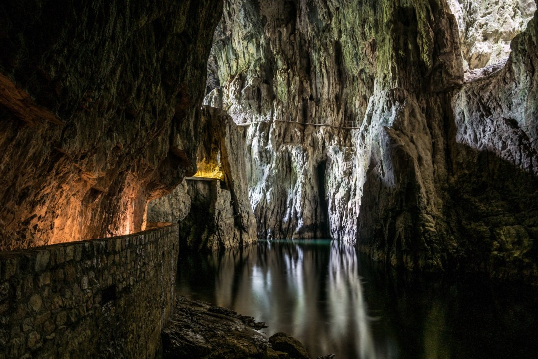Skocjan Caves, Slovenia are a real highlight when hiking in the alps