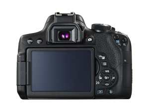 Canon EOS 750D Rear View