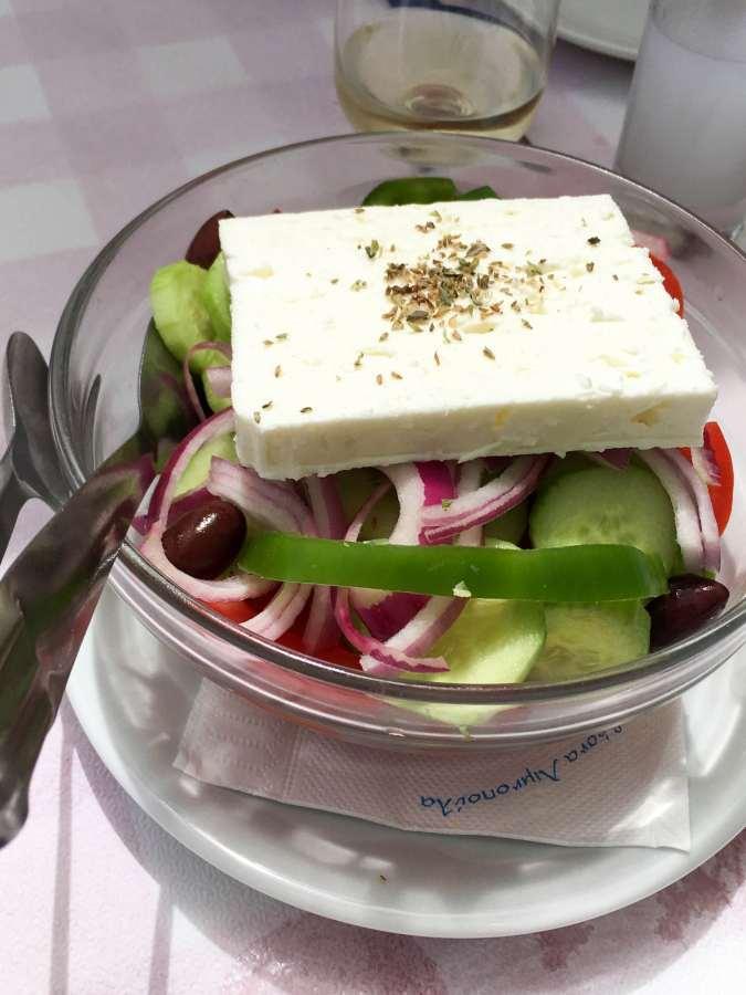 Greek Salad in Corfu