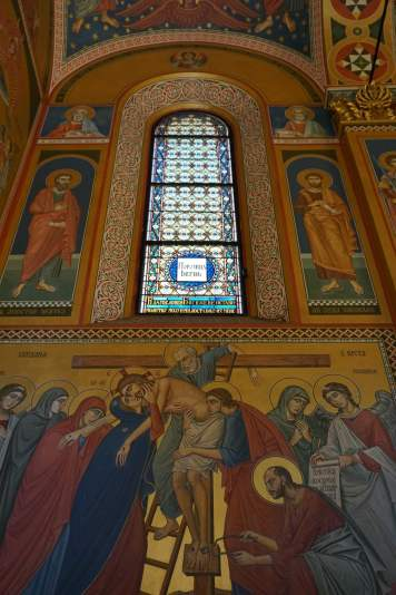 The fabulous interior of the church of the holy transfiguration