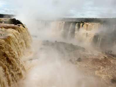 Alternative view of Iguazu Falls. Read more.
