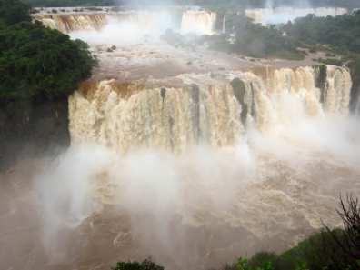 Iguazu Falls Close Up Brazil - Famous Brazil Landmarks