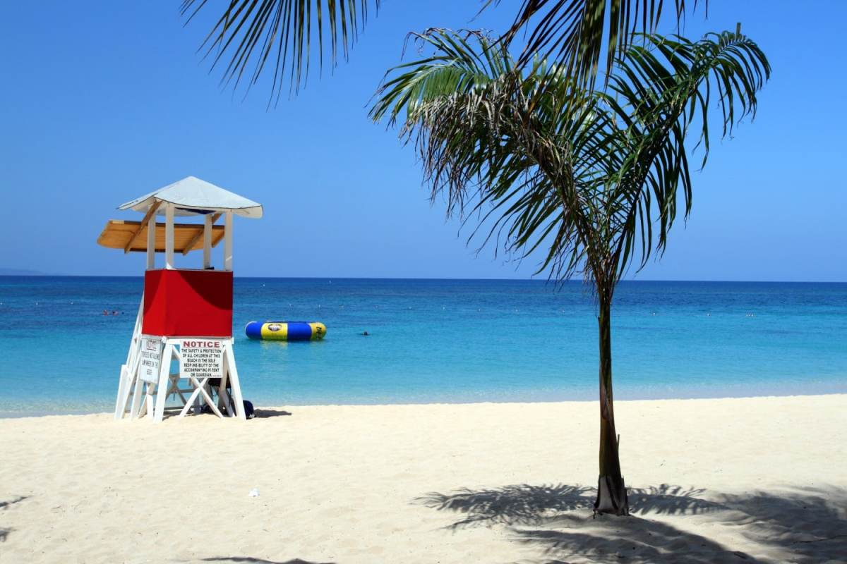 Doctor's Cave Beach, Montego Bay, Jamaica. Read our guide to the most beautiful islands in the Caribbean.