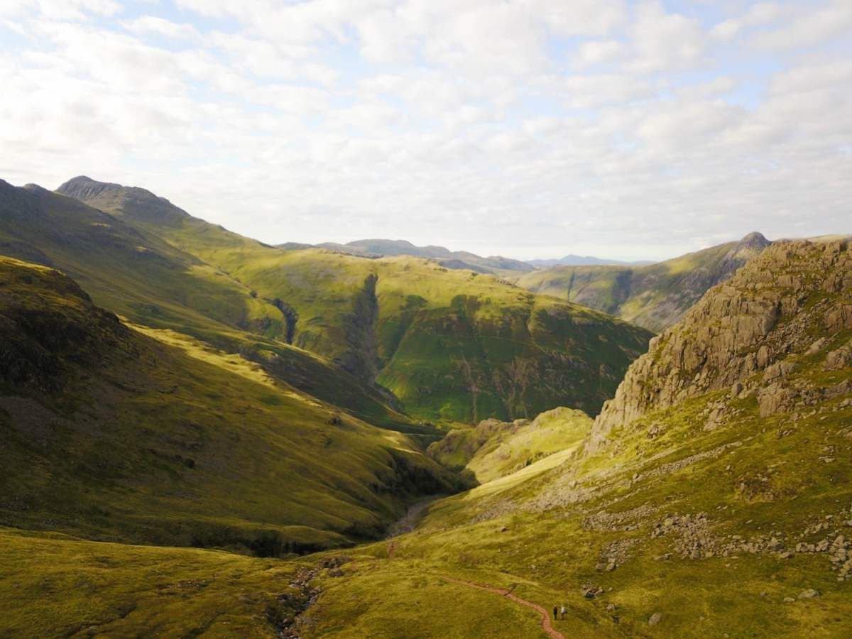 Valley Views on the Cold Pike Hike. Read our guide to walking in the Lake District.