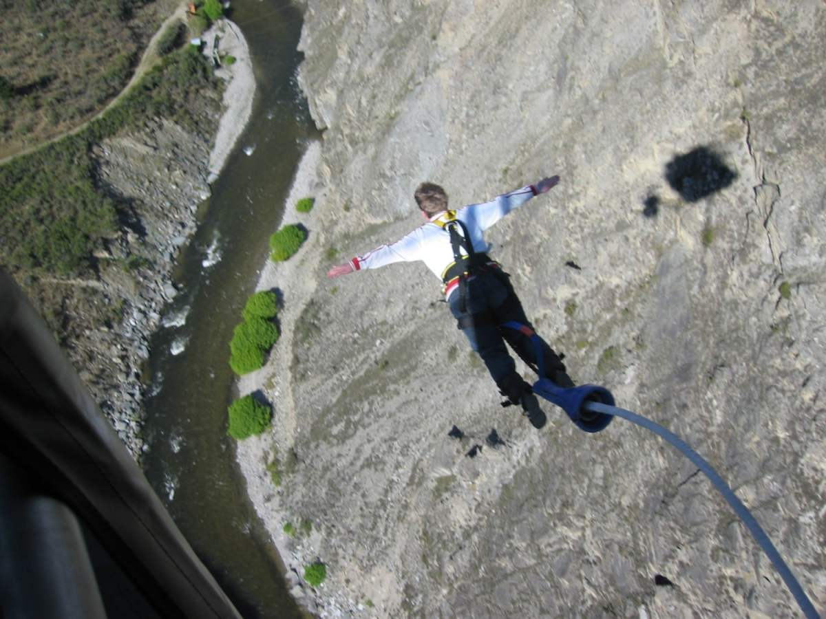 Bunjy Jumping off the Nevis Highwire Platform. Read the full guide to interesting bucket list ideas now.