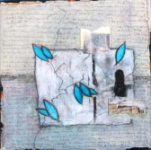 Donna Conliffe, Azure 8, mixed media on canvas, 12 x 12 in.