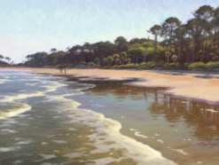 Hunting Island, oil on linen, 23 x 40 inches (sold)
