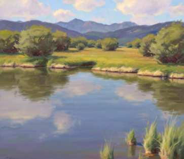 Teton River Willows, oil on linen, 26 x 30 inches