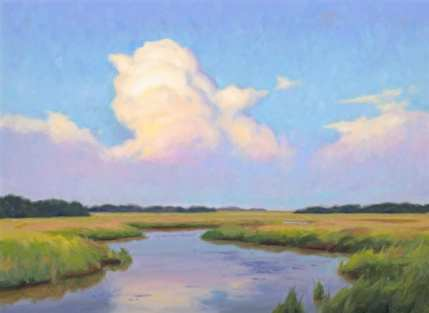 The Long Meander, oil on linen, 23 x 31 inches