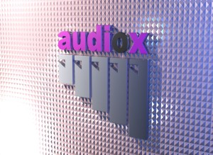 complete view of audiox 3d logo