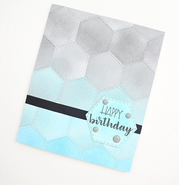 Geometric Honeycomb Greeting Card