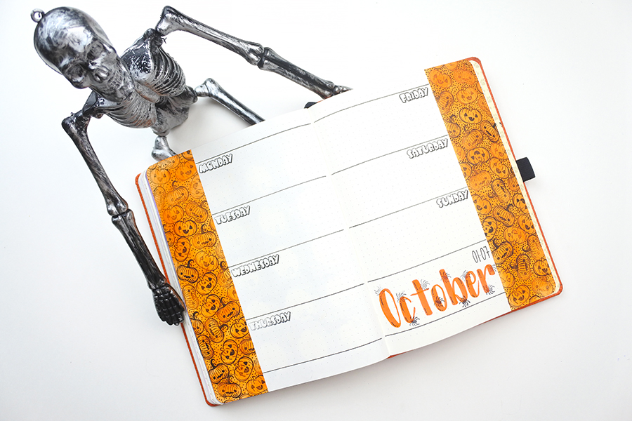 5 festive halloween journal layouts on a budget thediyday