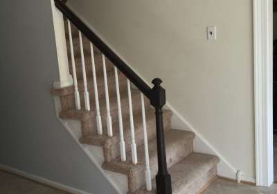 stair railing update