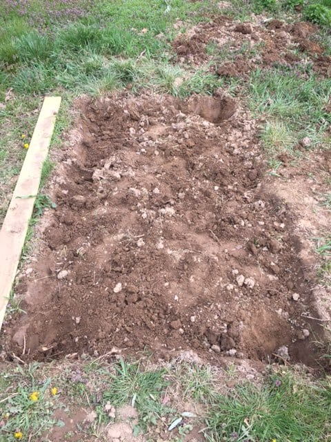 how to make a veggie garden - start digging