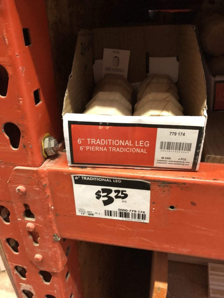 wood legs at HD