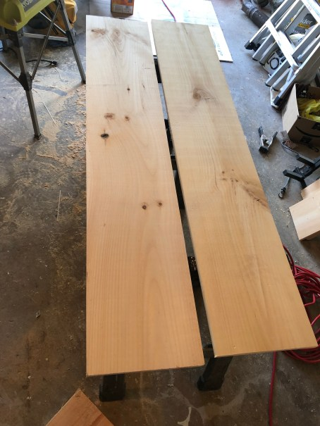 cut the wood for shelves
