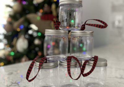 finished mason jars