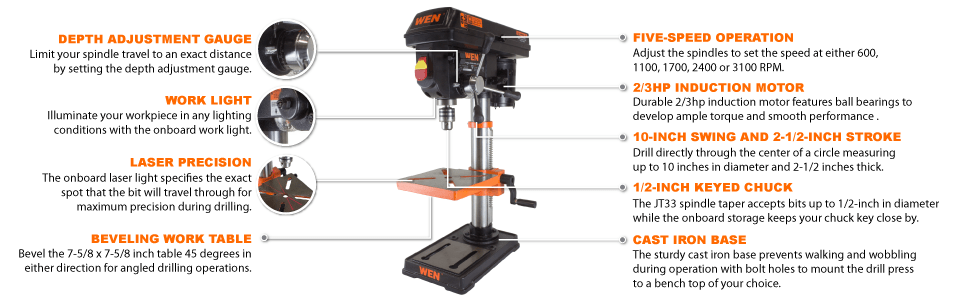 Spindle Travel Drill Press