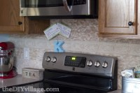 Split Face Travertine Tile Backsplash - the DIY village