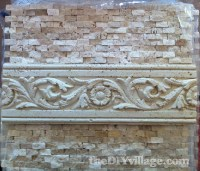 Installing a Split Face Travertine Backsplash - Pretty ...
