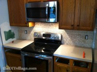 Split Face Travertine Tile Backsplash