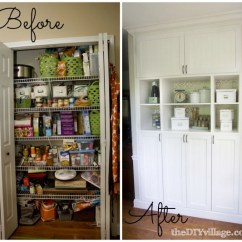 Diy Kitchen Pantry Cabinet Plans Unfinished Doors Build A Part 1 Included The Village Custom Makeover By Thediyvillage Com
