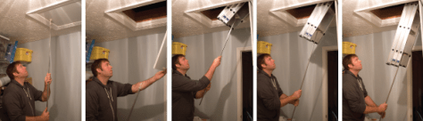 Deploying the Compact Attic Ladder