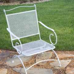 Metal Patio Chair Cover Rentals How To Refinish Rusted Furniture The Diy Village Re Finish