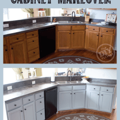 Kitchen Cabinet Makeovers Bridge Faucet Budget Friendly Makeover The Diy Village