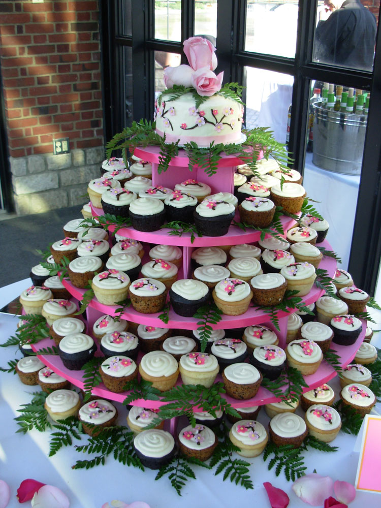 Wedding cupcakes at the dinner tables  Albany Wedding DJ Sweet 16 DJ Reunion Party  Mitzvah