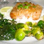 Honey Glazed Salmon with Butter Lime Reduction Sauce