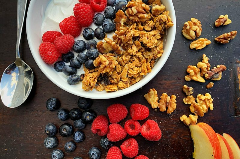 Honey Roasted Granola and Berry Yogurt
