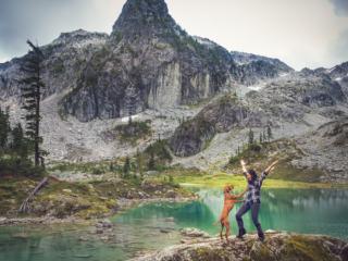 Watersprite glacier lake in Squamish, pnw