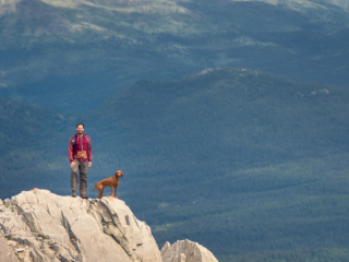 hiking views of surrounding Whitehorse, Yukon, Canada