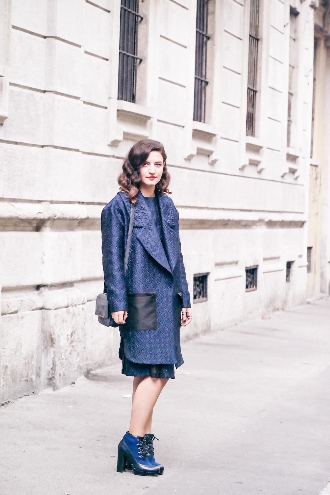 Frankie Morello coat dress Raparo shoes anja tufina