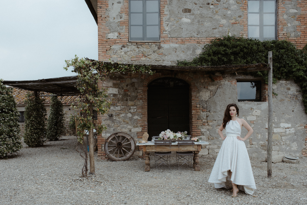 Fashion Blogger Wedding Tuscany destination photographer