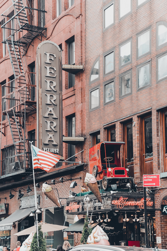 Ferrara, one of the most famous Italian bakeries in New York. Established since 1892