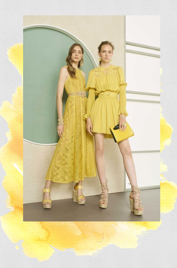 Elie Saab primrose yellow fashion trend