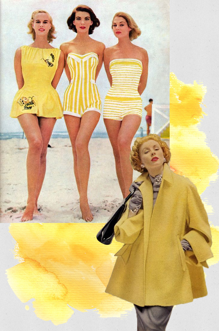 vintage fashion yellow