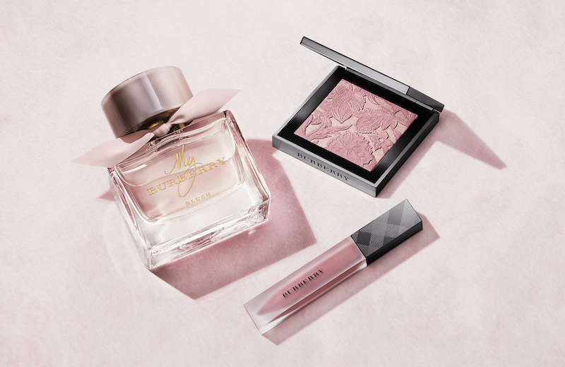 My Burberry Blush fragrance makeup