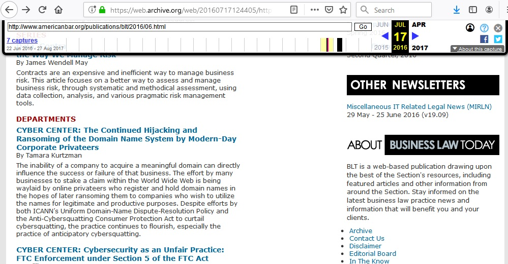 Anticipatory Cybersquatting