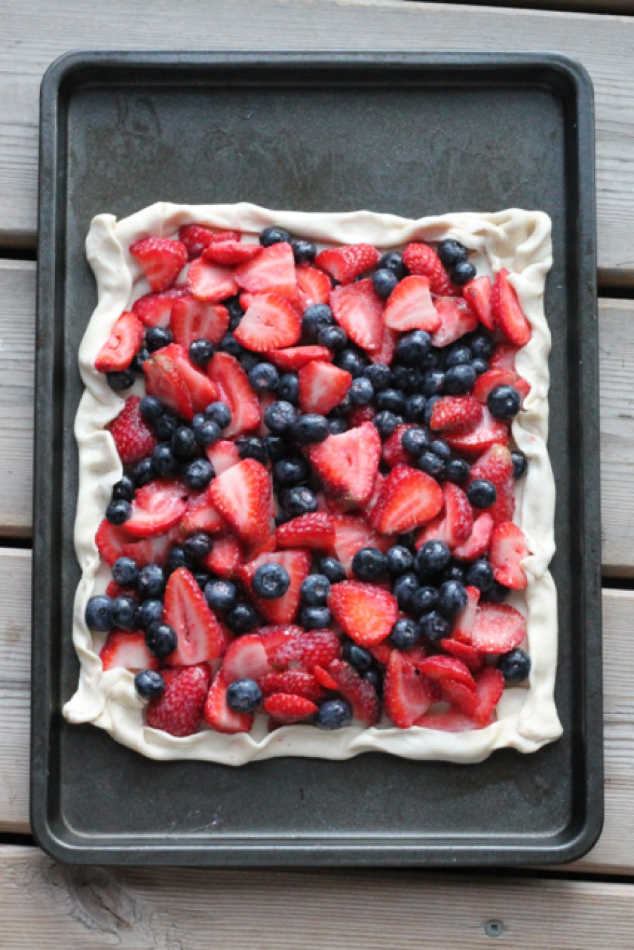 Strawberry-Blueberry Galette