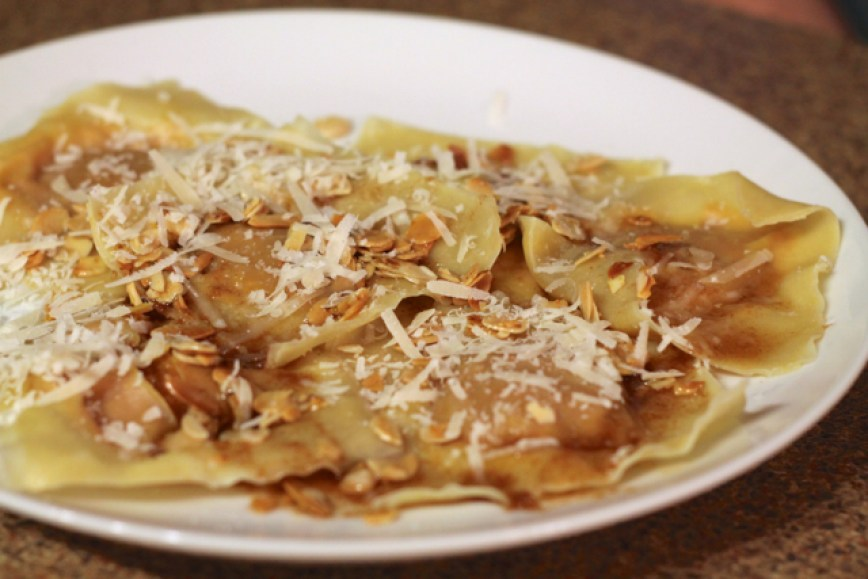 Pumpkin Ravioli with Sage & Brown Butter | thedomesticblonde.com