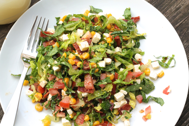 The Best Summer Chopped Salad | thedomesticblonde.com
