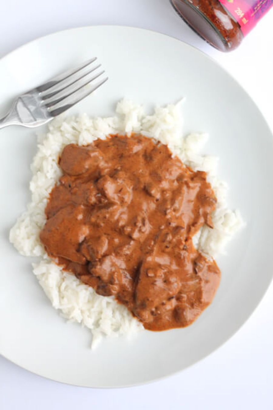 Slow Cooker Madras Beef | thedomesticblonde.com