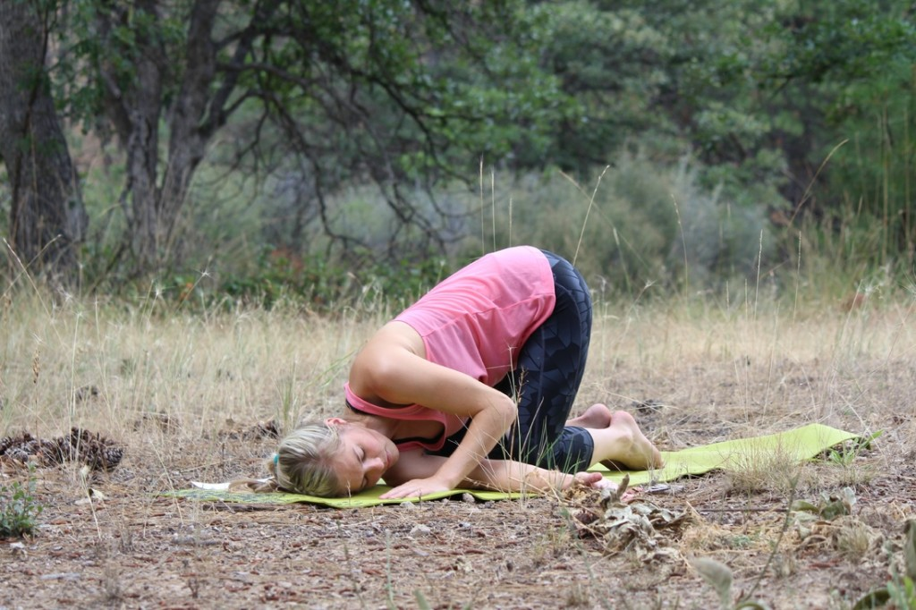 Yoga for Migraine | A Domestic Wildflower click through for a set of simple poses that anyone can try to relax and soothe.